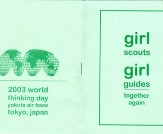 Girl Scouts 2003 World Thinking Day Yokota Troop notebook