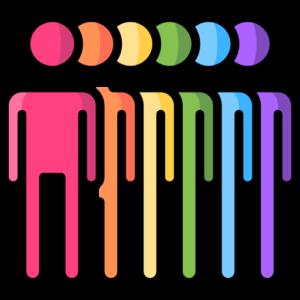 Rainbow of people symbols